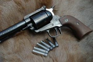 This 10-1/2 inch Ruger Super Blackhawk in .44 Magnum was used to take my first whitetail with a handgun.  I won this gun in an IHMSA match back in the early days of the sport.