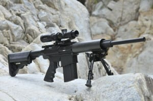 """Is a modern, lightweight AR-L in .308 a better """"scout"""" rifle?  With a removable magazine there is no need to mount the scope forward for clip loading."""