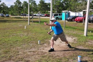 There was no lack of diversity at the Industry Masters.  This side match was with throwing knives. Given my performance, I think I'll stick to guns!