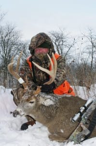 This buck was shot with a muzzle loader.