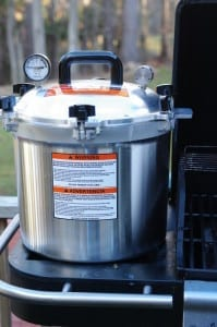 If the electricity goes out you can use any controllable heat source to can food. Propane with your grill's side burner, a camp stove, even wood heat.